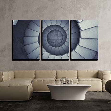 Amazon.com: wall26 - 3 Piece Canvas Wall Art - Design Spiral ...