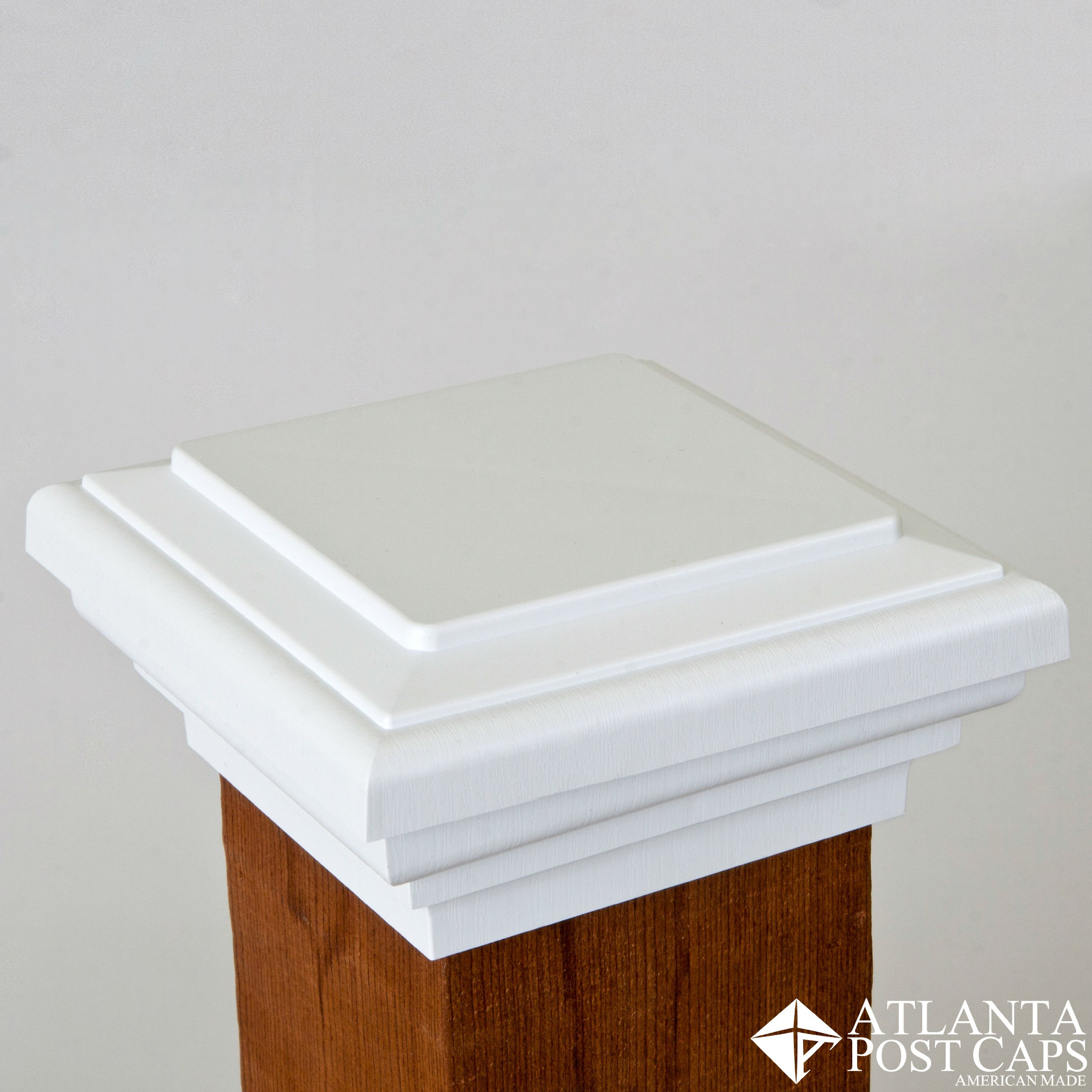4x4 Post Cap (Nominal 3.5'') - White Flat Top - 10 Year Warranty