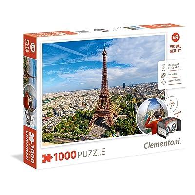 Clementoni 39402.9 Clementoni-39402-Virtual Reality Puzzle-Paris-1000 Pieces: Toys & Games