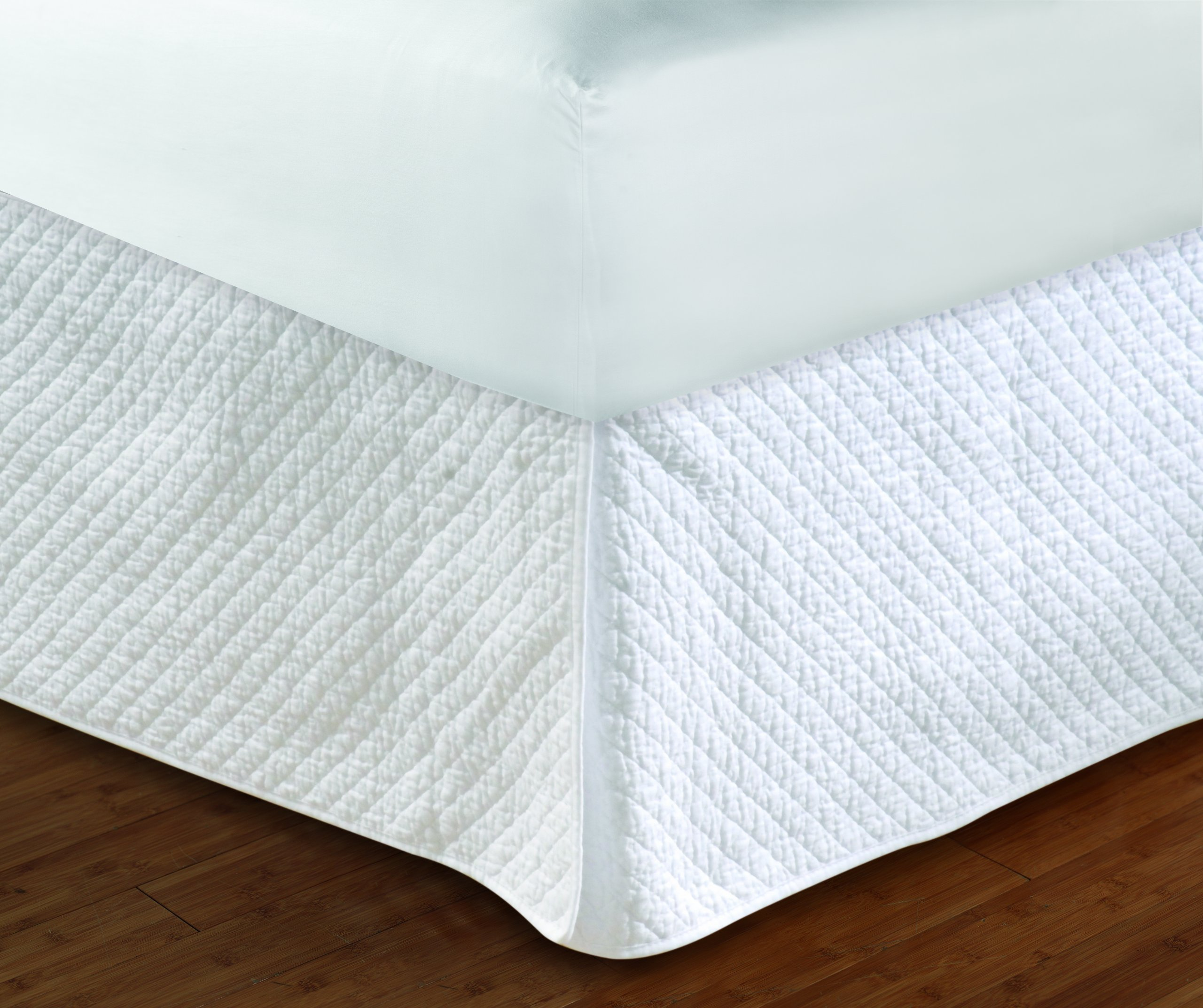 Greenland Home Diamond Quilted Bed Skirt, Queen | eBay : white quilted bed skirt - Adamdwight.com