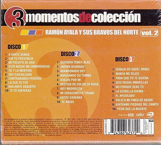 e93e33f22 Ramon Ayala y Sus Bravos Del Norte - 3 Momentos de Coleccion Vol 2  Ramon  Ayala y Sus Bravos Del Norte - Amazon.com Music