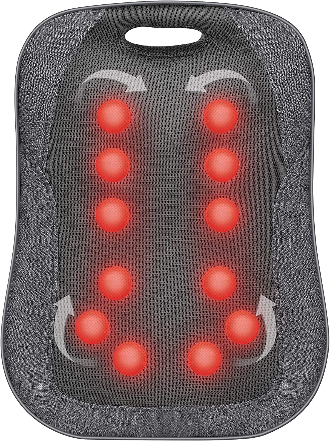 Shiatsu Back Massager with Heat- Portable Massage Cushion,Ideal Gifts for Women/Men, Adjustable Kneading Massage Chair Pad,Chair Massager for Office,Home Use