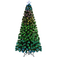 WeRChristmas Árbol de Navidad de Fibra óptica Que