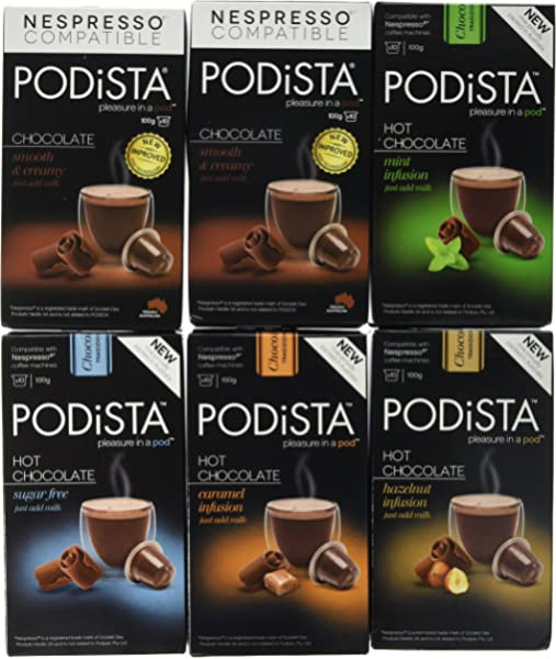 Nespresso Compatible Hot Chocolate Pods 4 Pack 40 Pods