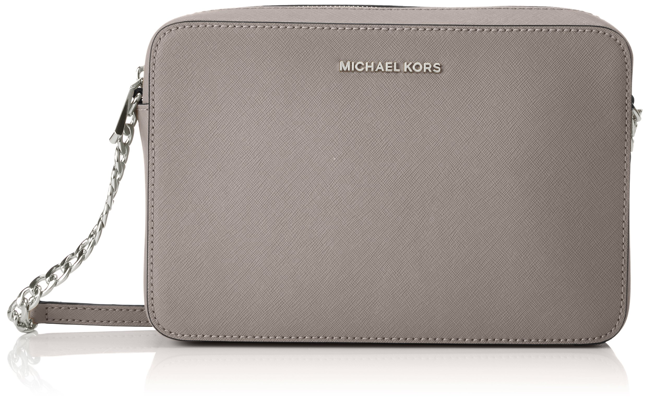 Michael Kors Jet Set Travel Large Crossbody Handbag - Pearl Grey