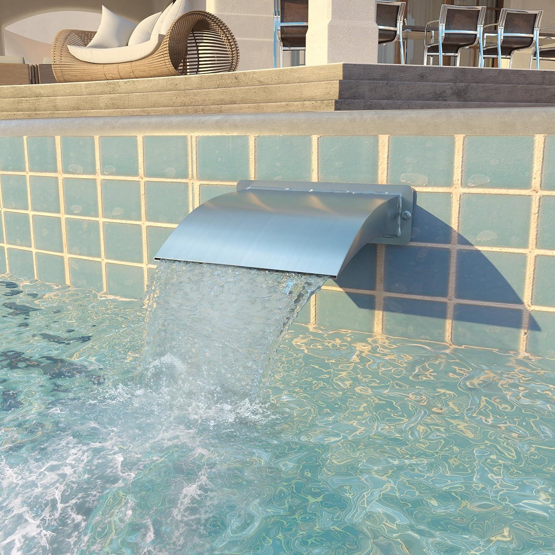 vidaXL Schwalldusche Edelstahl Pool Schwallbrause Schwimmbad Wasserschwall