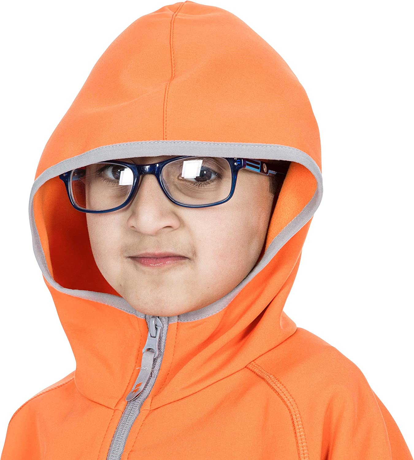 Trespass Unisex Kids Kian Softshell Jacket With Grown On Hood