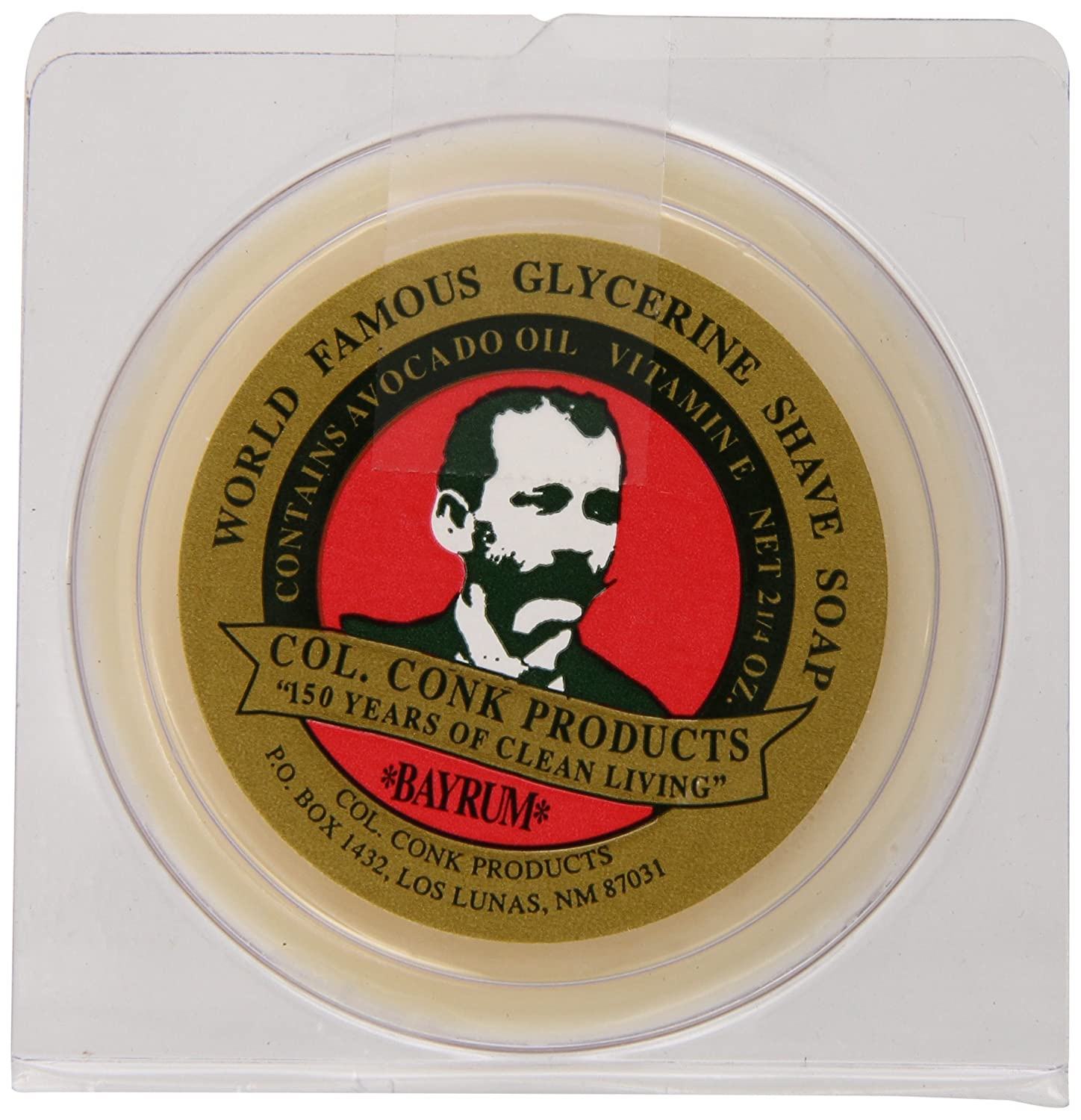 Col. Conk Worlds Famous Shaving Soap, Bay Rum (Net Weight 2.25 Oz) Colonel Conk C4-51BK-GY2N