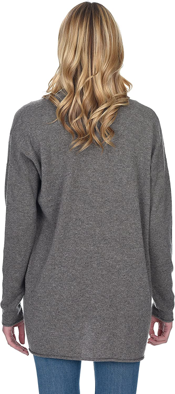 State Cashmere Cardigan mi-Cuisse l/éger 100/% Pur Cachemire Pull Ouvert Femme Coupe Classique /à Manches Longues