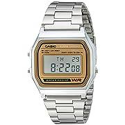Casio A158WA-9 Casio Silver & Camel Digital Watch - $23.10