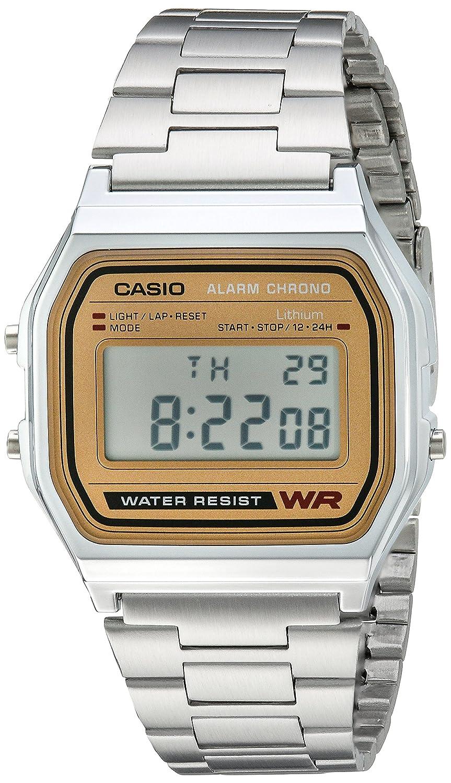 Casio A158WEA-9CF - Reloj de Pulsera Hombre, Acero Inoxidable, Color Plata
