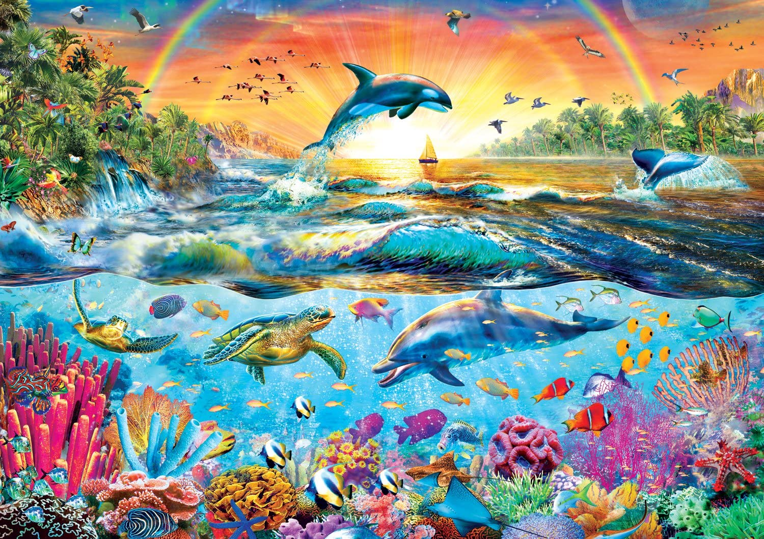 Buffalo Games - Amazing Nature Collection - Tropical Paradise - 500 Piece Jigsaw Puzzle