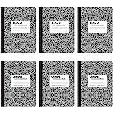 Cadernos de composição Oxford, pauta universitária, 24 x 18 cm, 100 folhas, preto, pacote com 6 (63767)