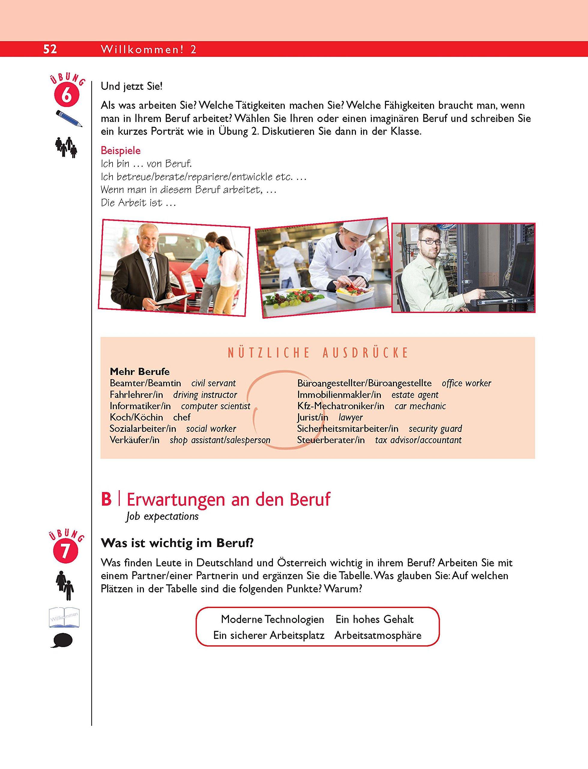 Buy Willkommen! 2 German Intermediate course: Coursebook Book Online ...