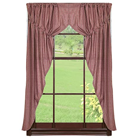 Checker Berry Prairie Curtains