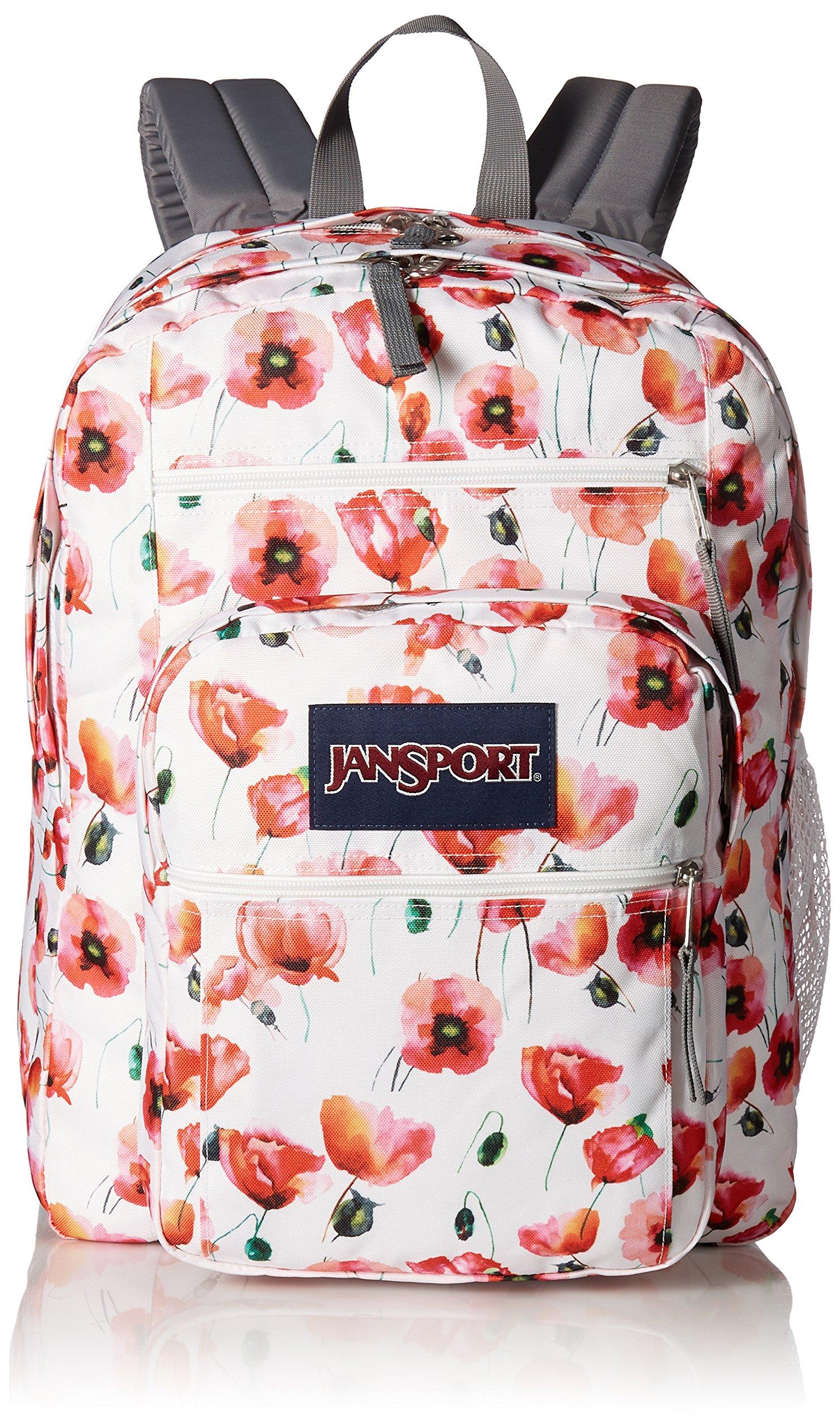 JanSport Unisex Big Student Multi Cali Poppy Backpack