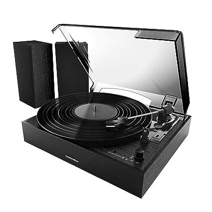 Amazon.com: Imagen más nítida sbt4003bk Bluetooth Tocadiscos ...