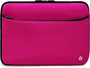 Protective Pink 14-inch Laptop Sleeve for Dell Inspiron, Latitude, Vostro 3000 5000 7000, Chromebook 14-inch