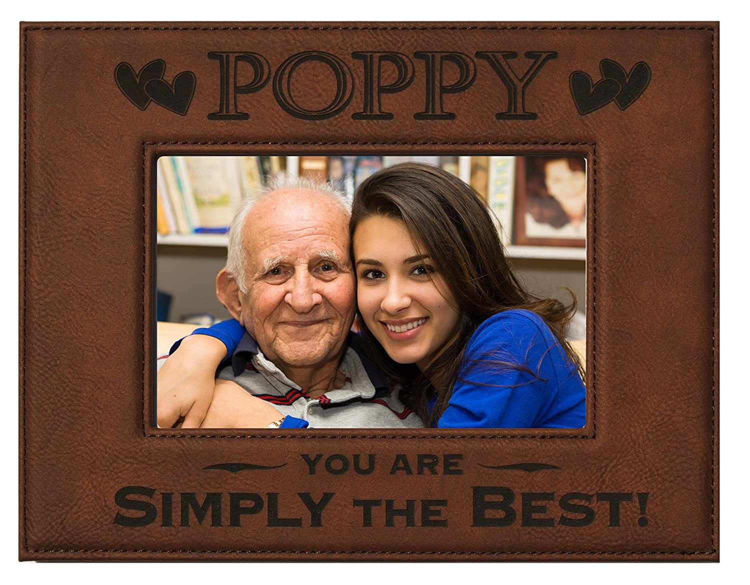 Amazon gift poppy picture frame engraved leatherette amazon gift poppy picture frame engraved leatherette picture frame poppy you are simply the best holds 4 x 6 photo great grandparents day jeuxipadfo Images