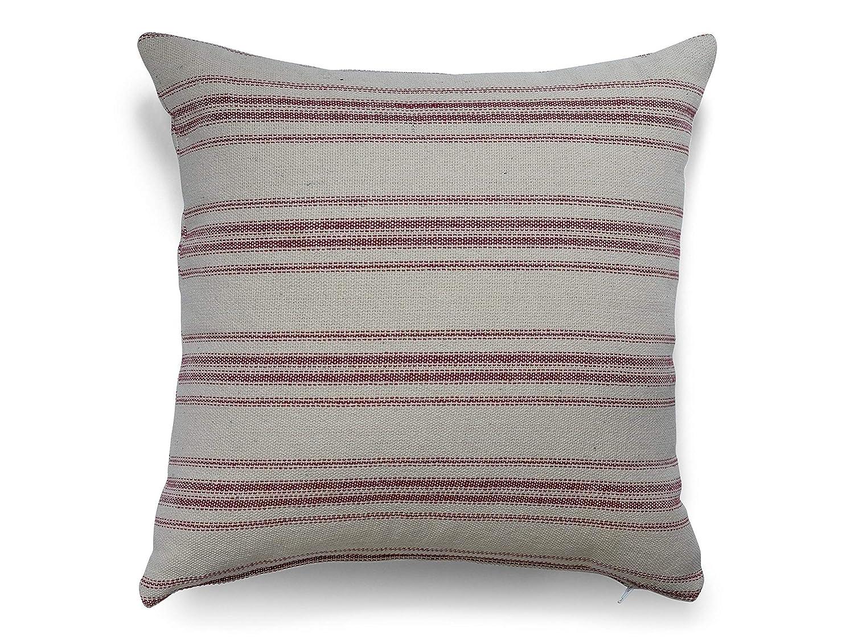 Grain sack Farmhouse Throw Pillows Handmade Home Decor Pillowcase Cover Grainsack Feedsack Woven Stripes