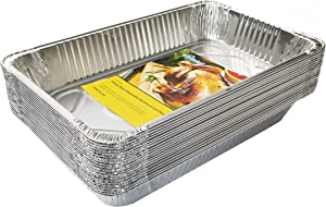 eHomeA2Z Aluminum Pans Full Size Disposable 20 Pack 21 x 13 x 3 (20, Full-Size)