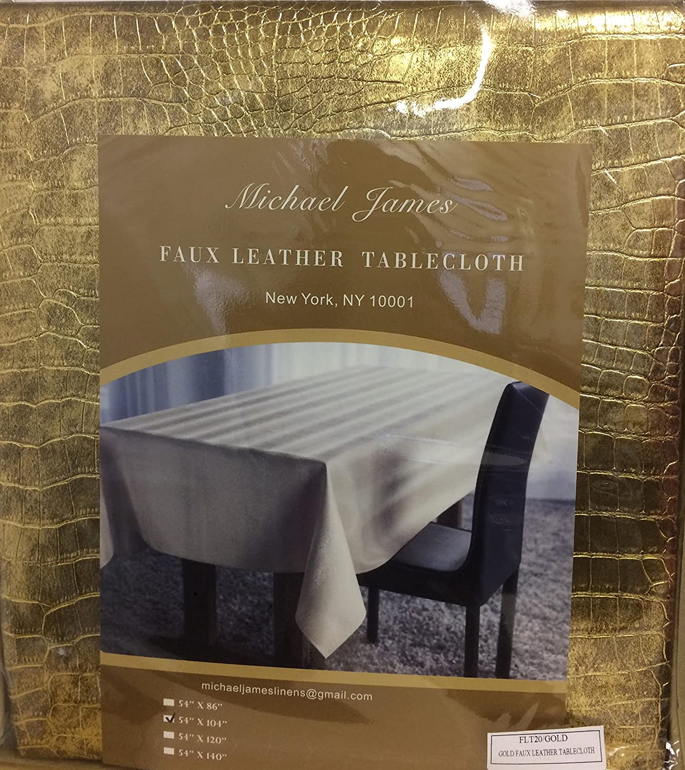 amazon com alligator faux leather tablecloth in gold 54x86 kitchen