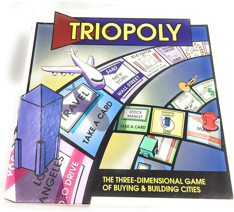 Triopoly Monopoly Style Game Board Game by Reveal Entertainment, Inc.: Amazon.es: Juguetes y juegos