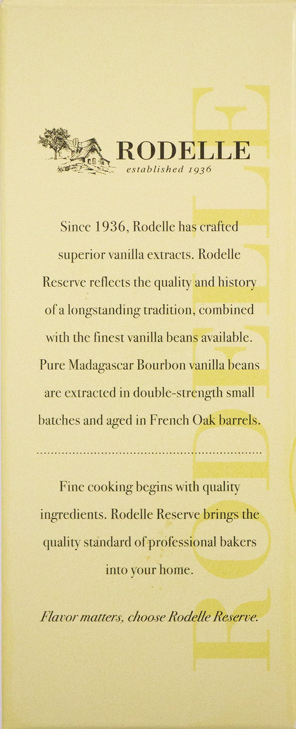Rodelle Reserve Pure Vanilla Extract, 6.75 Oz, Madagascar Bourbon, Double Fold, Aged in French Oak, Contains Gourmet Vanilla Bean, Gift Box Included by Rodelle (Image #4)