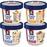 Quaker Overnight Oats, Variety Pack, Breakfast Cereal, 12 Cups