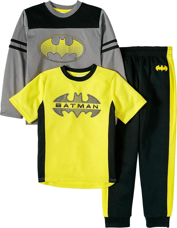 Boys Batman 3pc Shirt Pant Set Active Wear