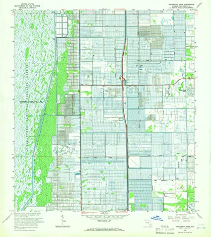 Topographical Map Of Florida.Amazon Com Florida Maps 1962 University Park Fl Usgs Historical