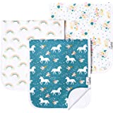 """Baby Burp Cloth Large Absorbent 3 Pack Gift Set Girls """"Whimsy"""" by Copper Pearl"""