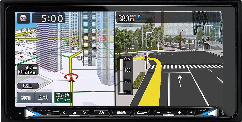 clarion(クラリオン)スーパーワイド7.7型UWVGA地上デジタルTV/DVD/SD 200mm AVナビゲーション MAX677W B071J3X3XD