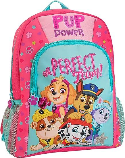 GIRLS PAW PATROL SKYE EVEREST BACKPACK NURSERY KIDS SCHOOL TRAVEL RUCKSACK BAG