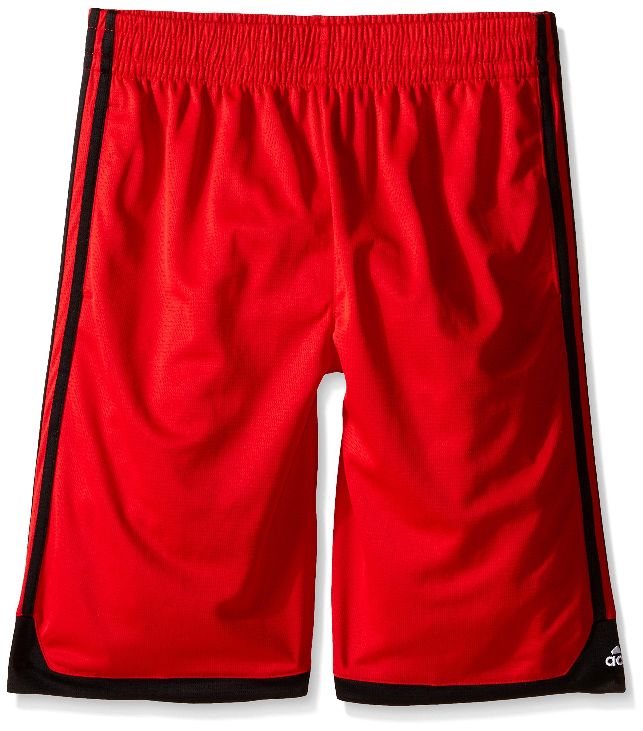 adidas Big Boys' Key Item Short, Light Scarlet/Black, X-Large/18
