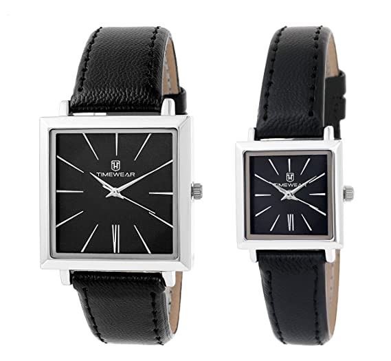 4493340b05b2 Buy Timewear Analog Black Dial Unisex Couple Watch - 909Bdtcouple Online at  Low Prices in India - Amazon.in