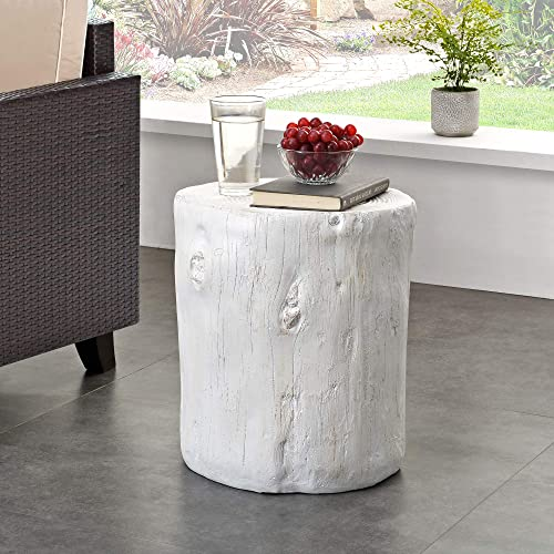 FirsTime Co. White Arbor Log Table