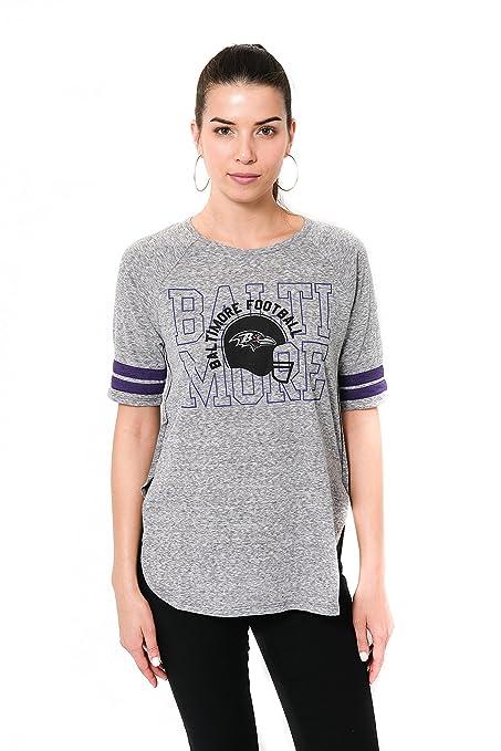 Icer Brands NFL Baltimore Ravens Women s T-Shirt Vintage Stripe Soft Modal Tee  Shirt 4a116cef2