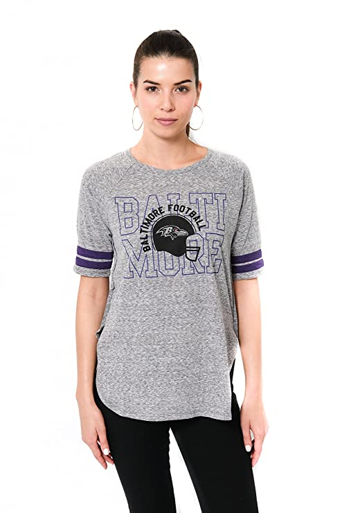 Icer Brands NFL Baltimore Ravens Women s T-Shirt Vintage Stripe Soft Modal  Tee Shirt 3929f3f70