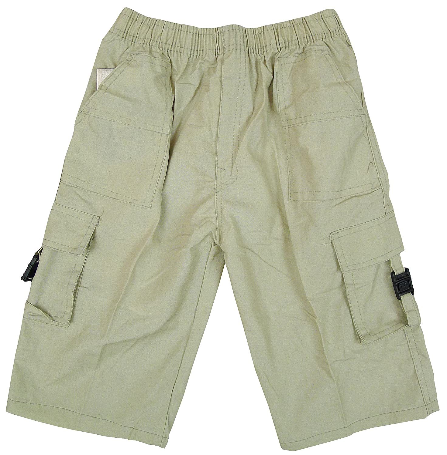 Boys Plain Buckle Pocket Combat Cargo Fashion Shorts Sizes from 3 to 12 Years