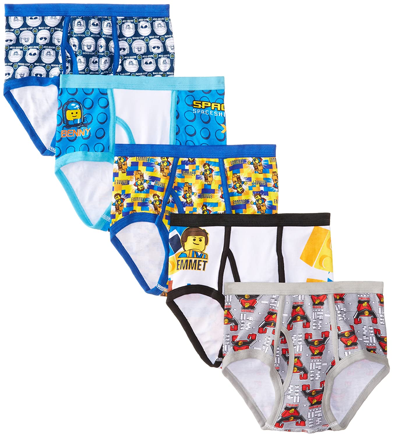 Pack of 5 Handcraft Little Boys Lego Movie  Brief