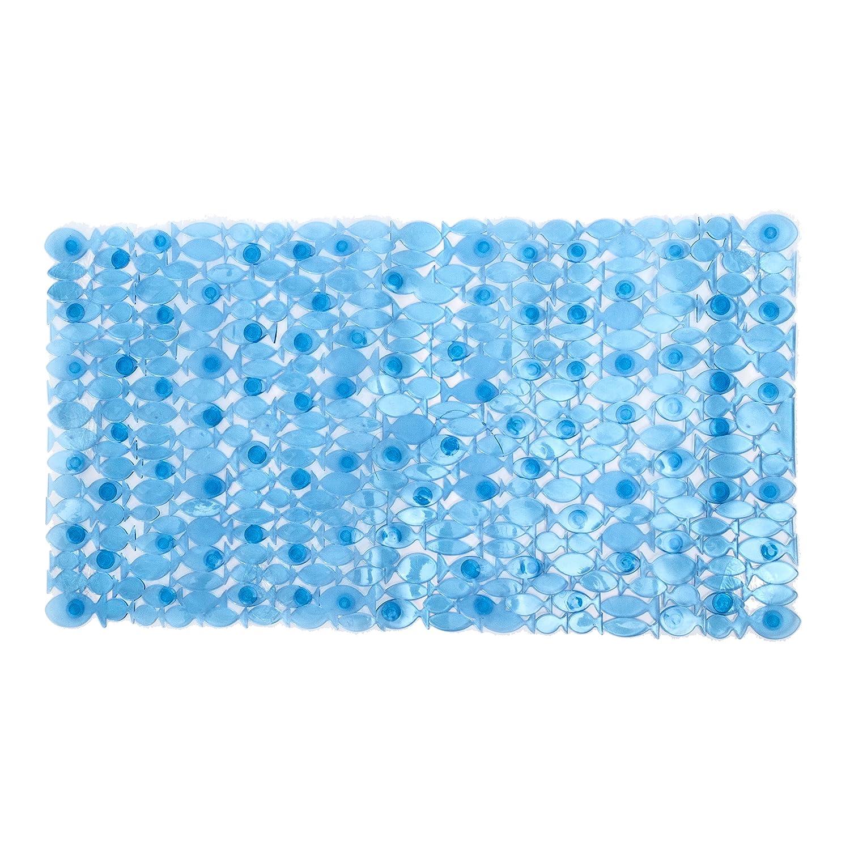SPLASH 51GUPPY/36BLUSPL Home Guppy Bath Mat, Blue Splash Home