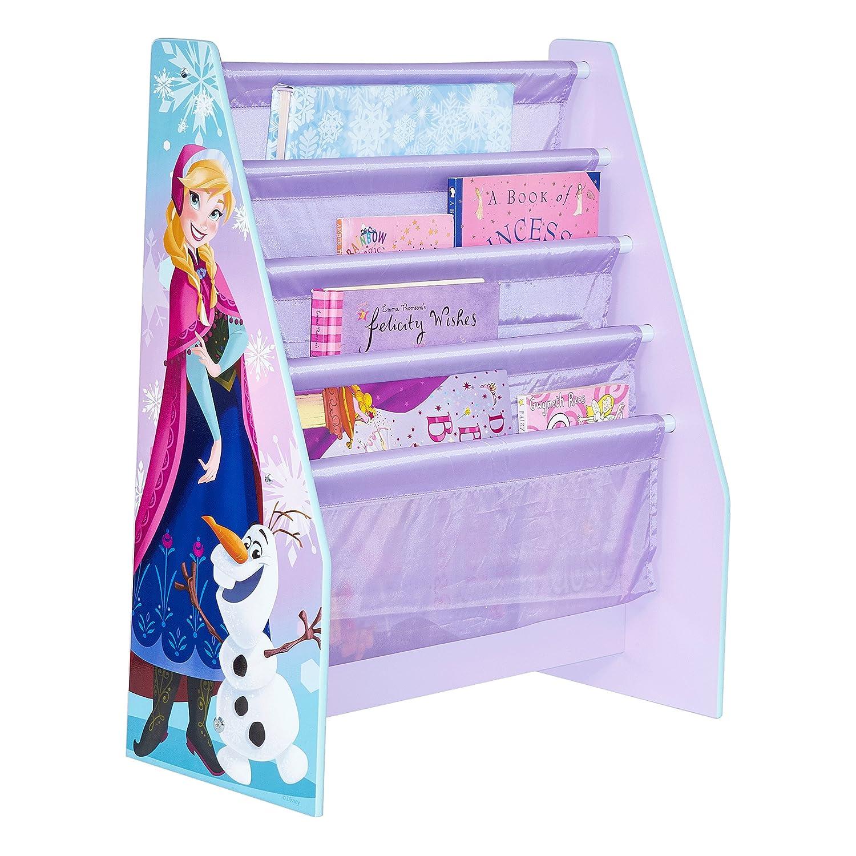 Worlds Apart (WAP) Frozen Hello Home Portalibri di a Tasche Verticali, MDF e Tessuto, Violetto 470FRN librerie