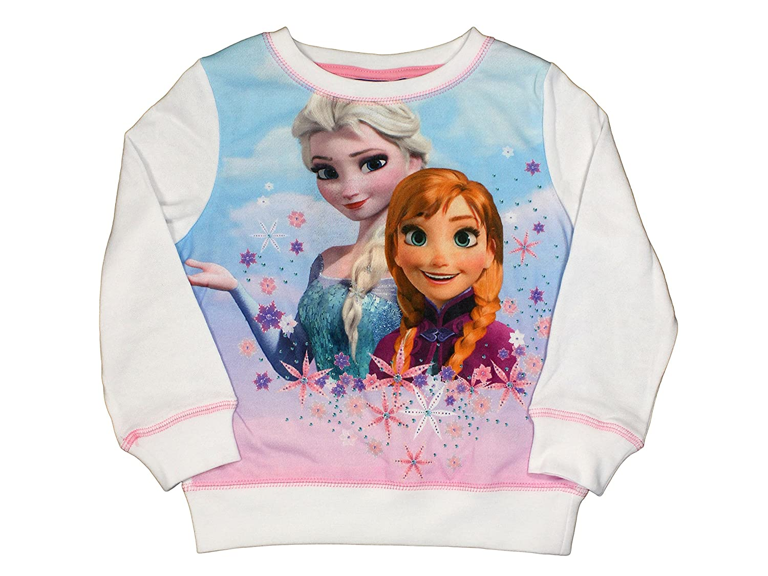 Frozen Official Girls Sweater 8Years White: Amazon.es: Ropa y ...