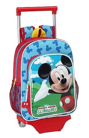 Mickey Mouse - Mochila Infantil con Ruedas (Safta 611539020): Amazon.es: Equipaje