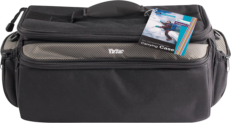 X-Large Vivitar VIV-RGC-12 Deluxe Pro Camera Camcorder Rugged Carrying Case Black
