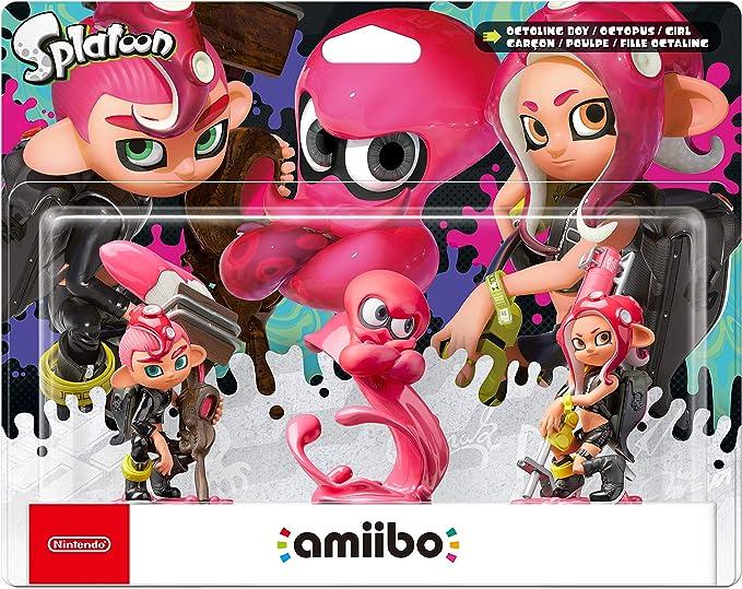 Nintendo - Amiibo Octoling Chico, Chica, Pulpo [Pack de 3]: Amazon ...