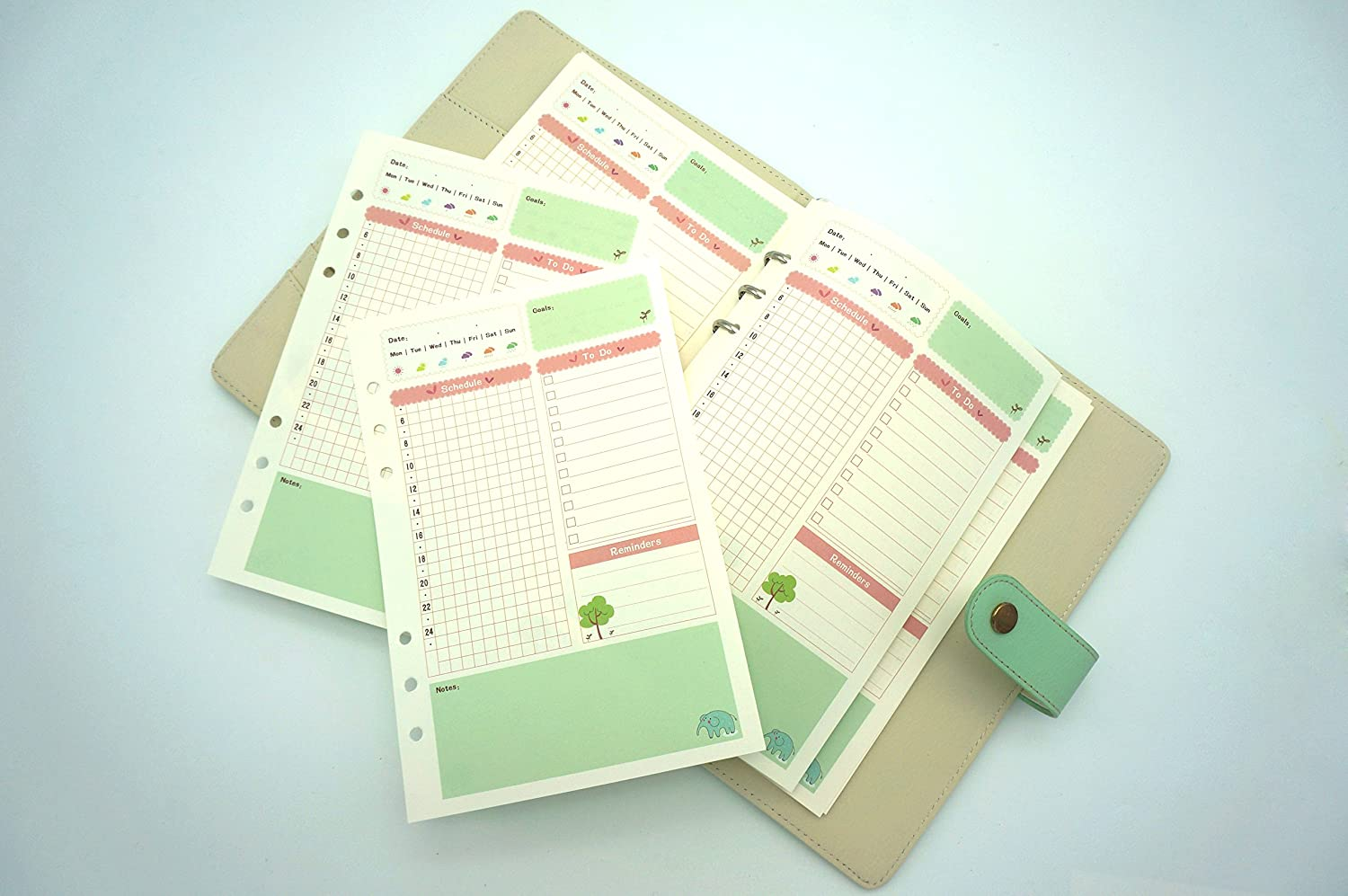 A5, 45 Sheets to do List Harphia 8.26x5.5 to do List Planner Refill,to Do Paper A5 Planner Inserts