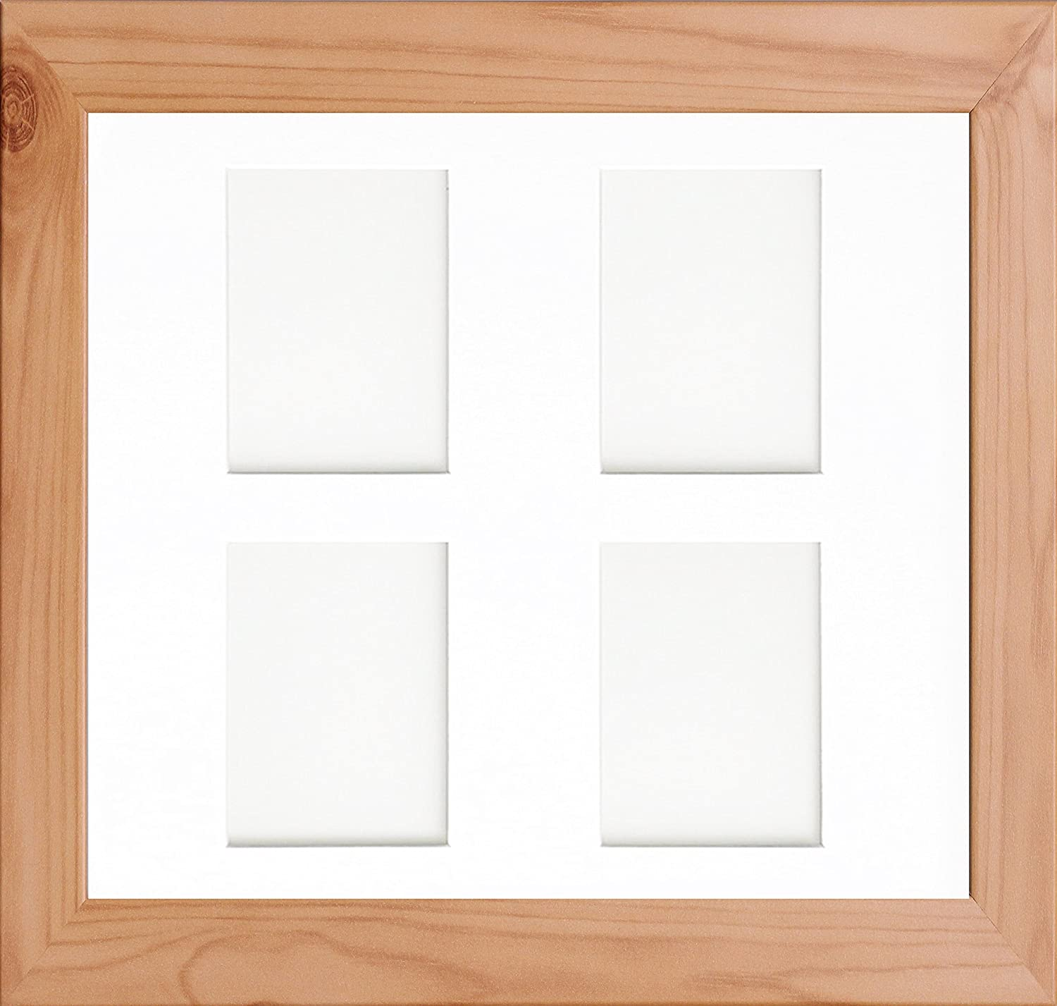 Multi Aperture Collage Picture Photo Frames Pine Frame White & Ivory Mount 23 Sizes (A1 For 20x10 x1(L) 8x6 x6(P) (Photos), Ivory) Enem Store