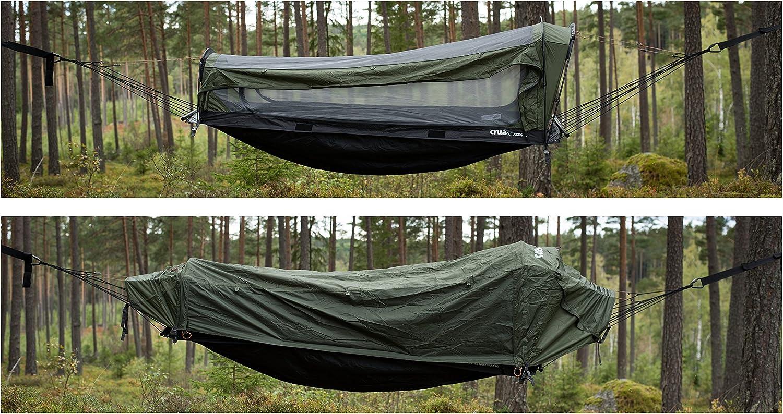 Crua hybride kampeerhangtent: converteert snel van hangmat